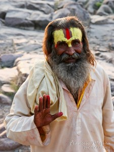 Sadhu in the Chhatris of Orchha