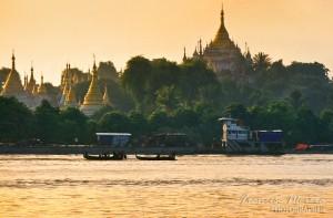 Pagodas at the Ayeyarwady river