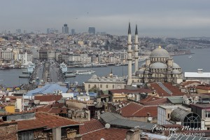 Panoramic from the roof of Buyuk Valide Han