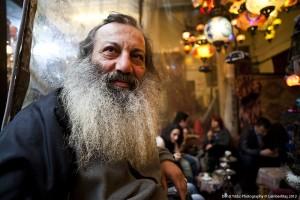 Tea shop customer