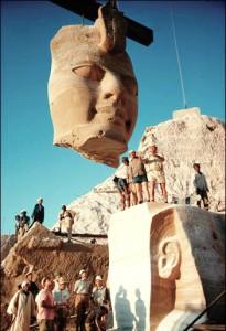 Dismounting Abu Simbel