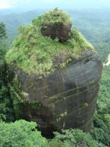 Paisajes exhuberantes en las colinas de Kashi