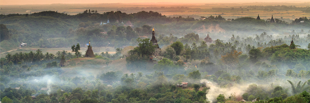 Panoramic view of Mrauk U, Arakan
