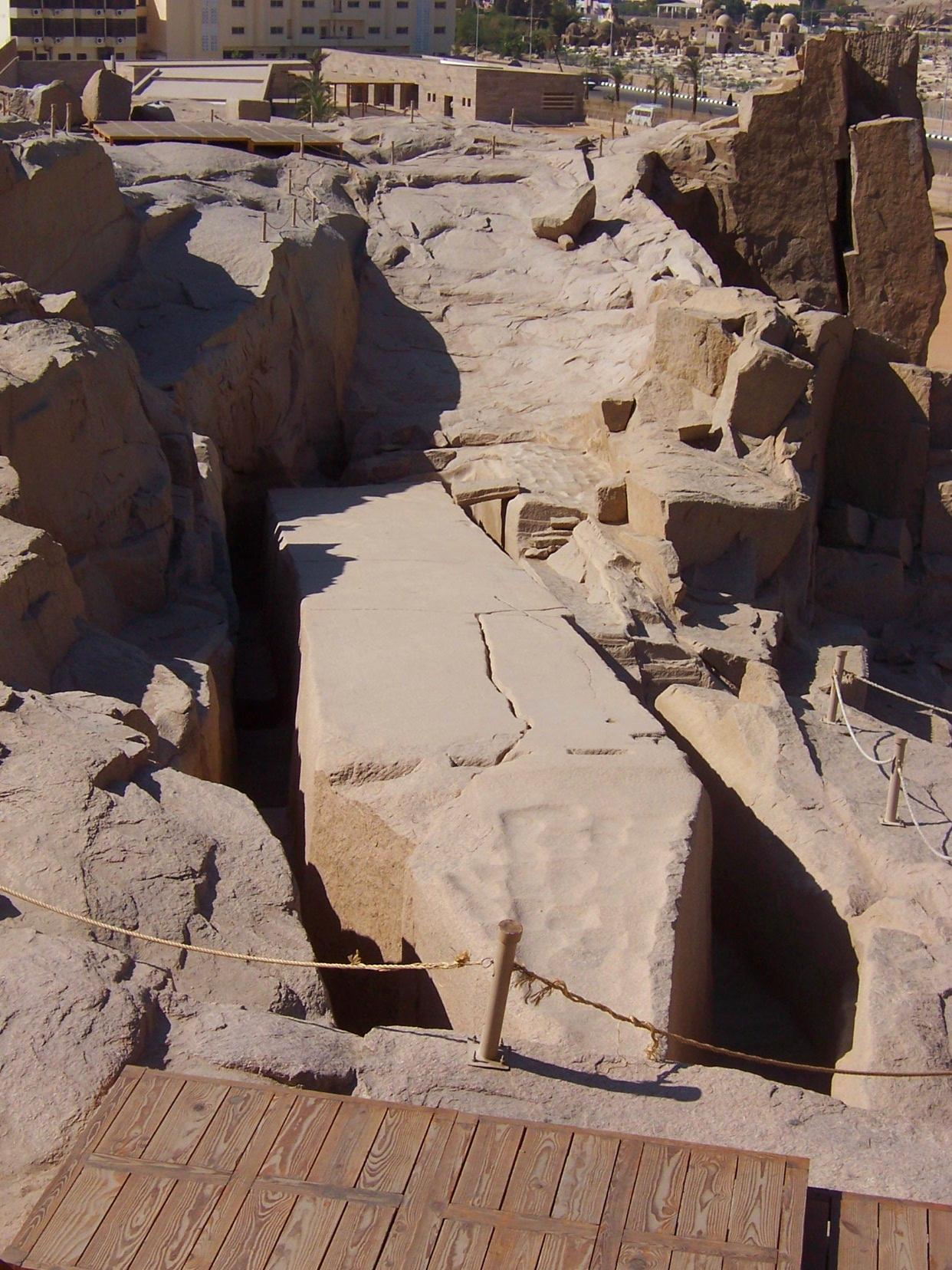 Monolito inacabado, Aswan