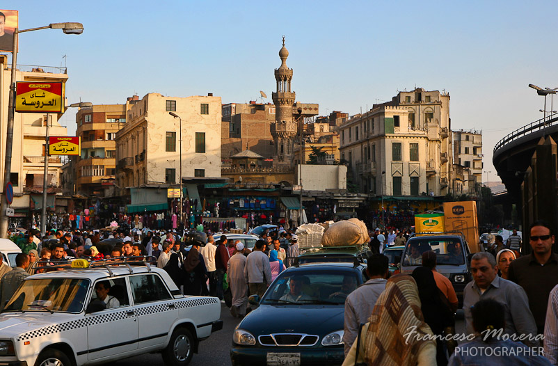 Trafico en el Cairo