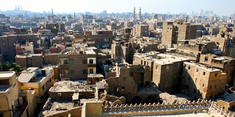 Vista aerea del Cairo antiguo