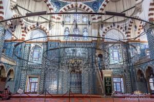 Cerámica azul de Iznik en la mezquita de Rüstem Pasha