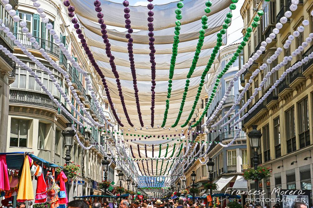 La calle Larios en Feria
