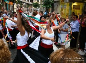 Verdiales en las calles de Málaga