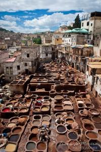 Curtiduría en Fez