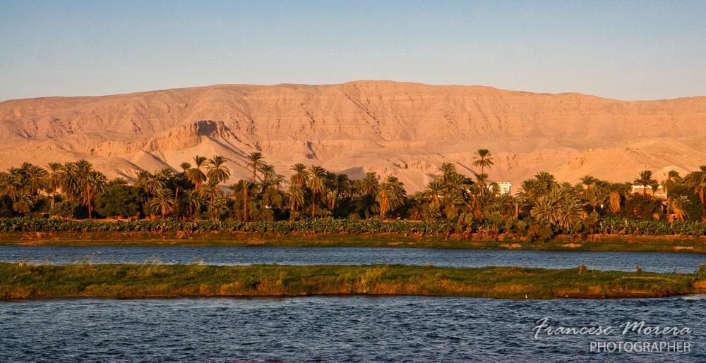 Atardecer sobre el Nilo, Egipto