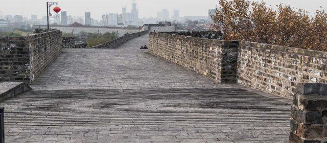 La gran muralla de Nanjing (Ming city wall)