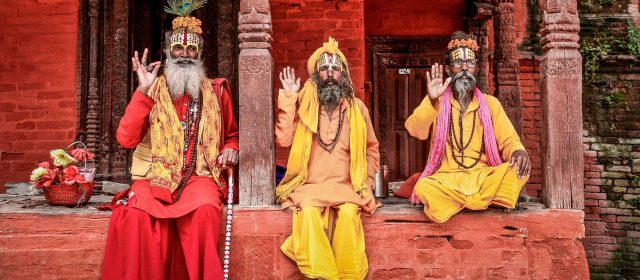 Sadhus, ascetics from India and Nepal