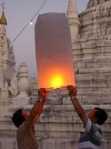 Farolillos desde Wat Phra Kong Mu